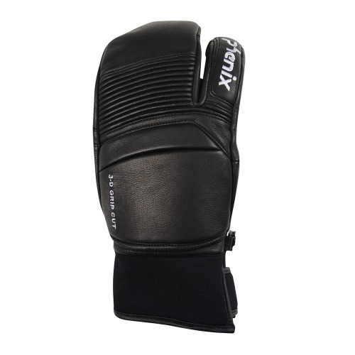 [18/19] TRI-FINGER LEATHER GLOVES BLACK (PF878GL06)