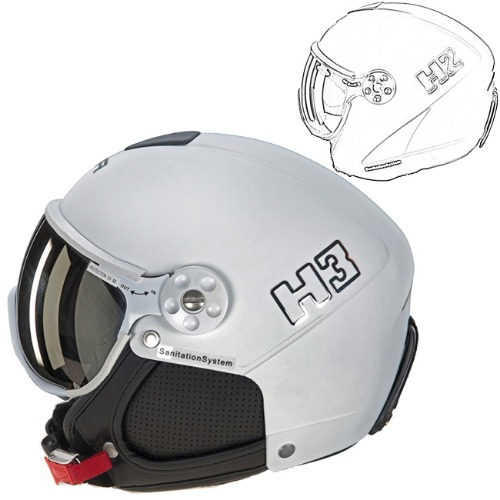 [18/19] HMR HELMET COLOR H2-001 WHITE