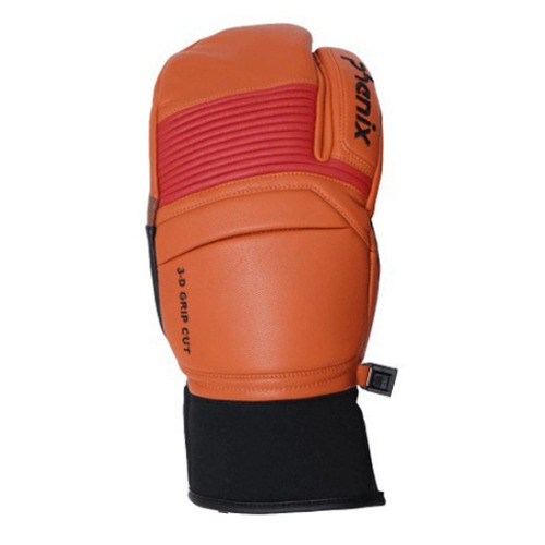 [18/19] TRI-FINGER LEATHER GLOVES ORANGE (PF878GL06)