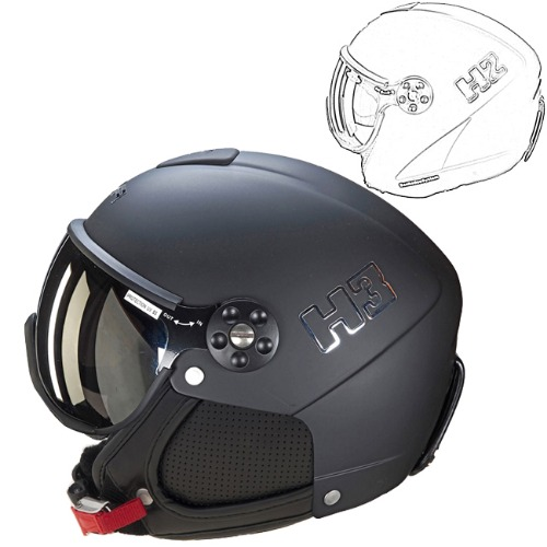 [18/19] HMR HELMET COLOR H2-002 BLACK