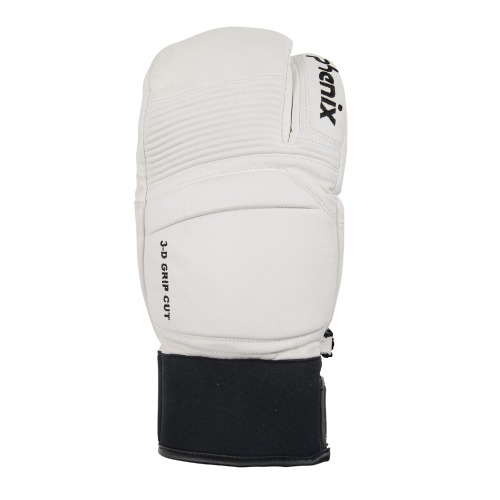 [18/19] TRI-FINGER LEATHER GLOVES WHITE (PF878GL06)