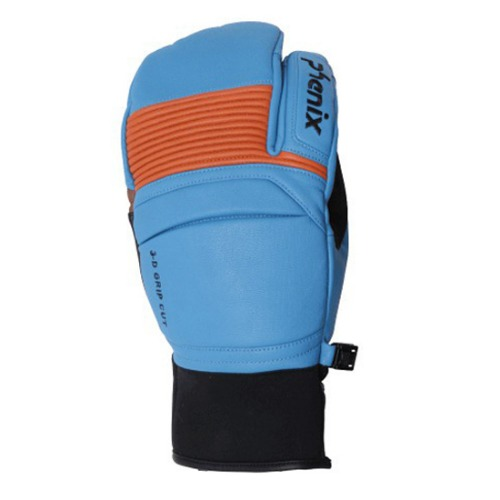 [18/19] TRI-FINGER LEATHER GLOVES BLUE (PF878GL06)