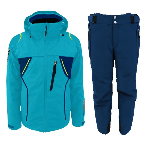 [18/19] MEN'S TEAM JACKET TURQUOISE ONJ 91550 + PANTS NAVY ONP91551