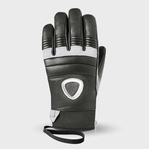 [18/19] 90 LEATHER GLOVES_W BLACK/WHITE (WOMAN)